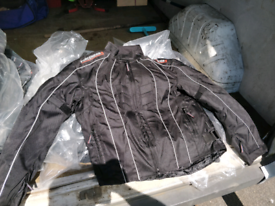 Motorbike jackets padded and re-enforced