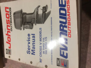 Service manual Johnson outboards 90 cross v models
