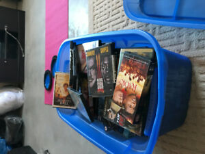 DVDs and cassette tapes for sale $5.00