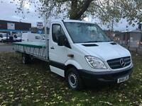Mercedes Sprinter 313 CDI 3.5T Dropside Extra Long 19ft 10in 6 Metre Load Length