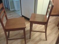 side folding table with two chairs