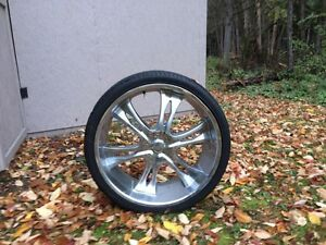 """24"""" rims with tires for 2007-2016 gm truck 1500"""
