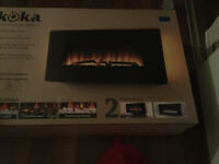 Electric fire place wall mount &  42inch LG flat screen combo