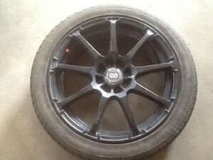 "4 17"" Enkei rims universal dual 4x100, and 4x114.3mm with tires."