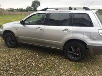 1DAY SALE Mitsubishi Outlander 2004 LPG Gas Petrol 2.4 great jeep 4WD wheel drive