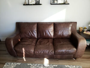 Brown Leather Couch for Sale!