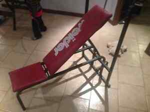 Banc de musculation Weider (négotiable)