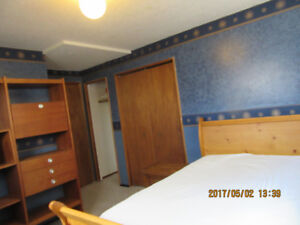 Bedroom is in  Lower level of home,and Private entrance