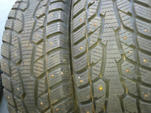 four winterquest studded 195/65r15 like new