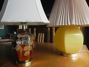 Two Vintage 1970's Table Lamps