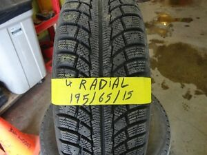 4 WINTER TIRE 195/65/R15 95% TREAD ( RADIAL) Kitchener / Waterloo Kitchener Area image 1