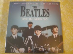 THE BEATLES BLUE VINYL LP Live In Paris '65 Still Sealed