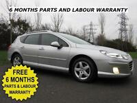 PEUGEOT 407 2.0 HDI 136 BHP 6 SPEED ESTATE ** LOW MILES ** SUPERB VALUE DIESEL