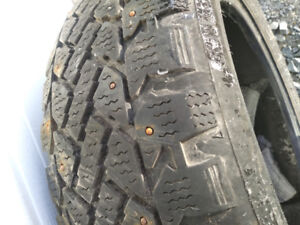 4 Used Studded Winter Tires