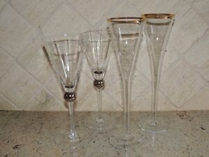 2 pairs champagnes glasses