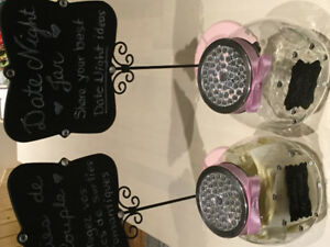 Wedding decorations - set of two decorative jars/signs