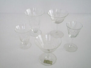 Vintage W J Hughes Corn Flower 20 pieces Glass Set-Mint Kitchener / Waterloo Kitchener Area image 1