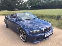BMW M3 E46 CONVERTIBLE 84K MILES! BEST HISTORY IN UK! TV SAT NAV! XENONS!
