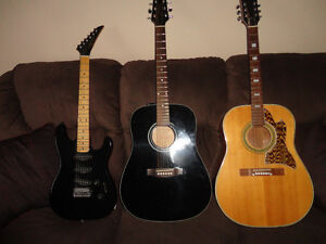 for sale 3 guitars 1 price! 450$ for all 3
