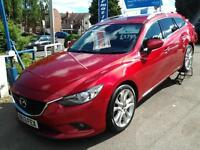 2013 MAZDA 6 2.2d 150 Sport Nav New Shape SAT NAV AND LEATHER