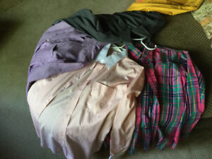 Men's dress shirts, long sleeved, various styles and colours