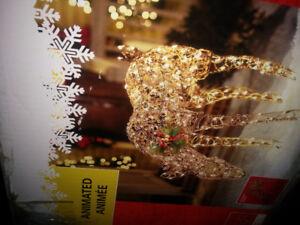 Renne de Noël lumières