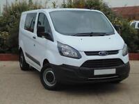 2017 Ford Transit Custom 2.0 TDCi 130ps L1 H1 290 DCab Van 3 door Panel Van