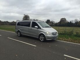 MERCEDES BENZ VITO CONVERTED VIANO AUTOMATIC 2011 ,61 plate EXTRA LONG 8 SEATS