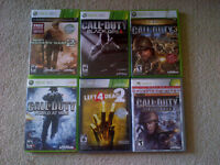 Xbox games - lot of 6 for $65.00 OBO Call of Duty Bundle