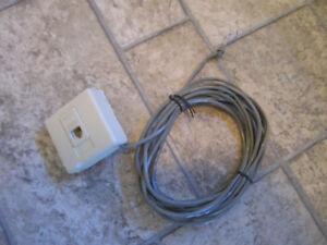 Telephone TV RJ45 RJ11 RG58 RG6 cable Adaptor Adaptateur