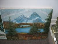 peintures originales sur toile 25$ chacune au choix...