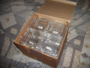 2 Brand New Box of 12 Multi-Use Clear Hard Plastic Cases / Boxes