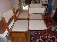 Teak Chairs-Mid Century Set of 4 $75.00