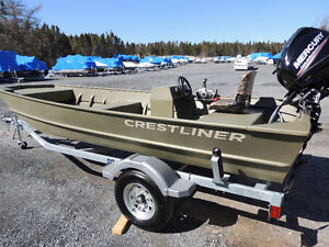 Crestliner Jon Boat 1648 MT With Console