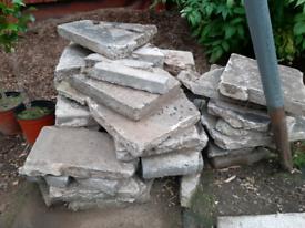 Crazy paving slab bits
