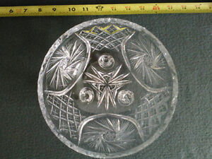 Collectible Antique Crystal Three Footed Bowl London Ontario image 8