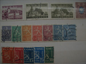 Selling My Stamp Collection---Finland Lot - $50