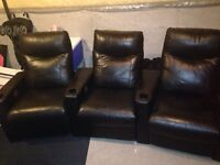 Leather movie theatre chairs