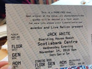 Jack White Halifax Pit Ticket