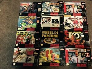 Snes game boxes only  make me an offer on what you want
