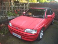 Ford escort xr3i. H red.
