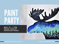 Paint Party May 15 @ Swiss Chalet in Cambridge