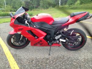 2007 Kawasaki Ninja Zx6r 600cc sportbike motorcycle