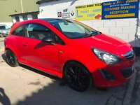2014 Vauxhall Corsa 1.2 16V 85 BHP A/C Limited Edition - Red & Black
