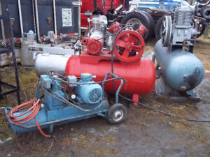 9 AIR COMPRESSORS - AIR TANKS - ETC