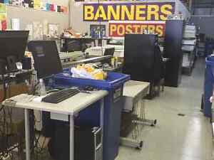 Wide format/small format printing business for sale