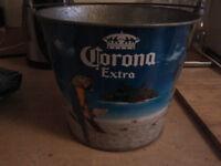 corona beer metal bucket