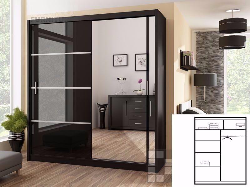 💖 💖💖Platinum💖 💖💖 Victor Sliding Door Luxury Range Wardrobe - SAME DAY!