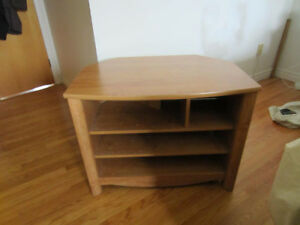 corner tv stand perfect condition maple finish first $25