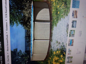 12 foot round pool, 52 inches.  Comes with sand filter system.